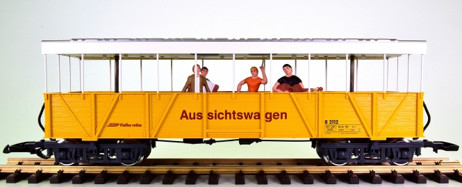 LGB 33353 (G/IIm) – Offener Wagen der RhB, digital (DCC/mfx) + Sound
