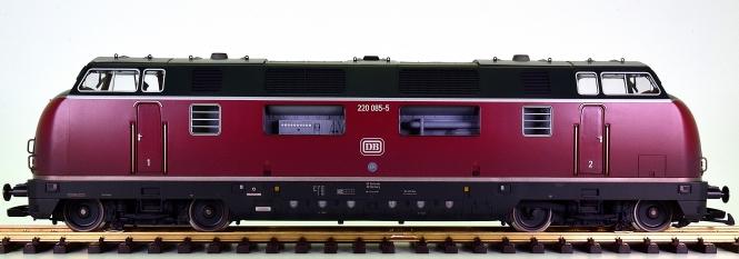LGB 23945 (G/IIm) - Mehrzweck-Diesellok BR 220 der DB, digital + Sound + Rauch