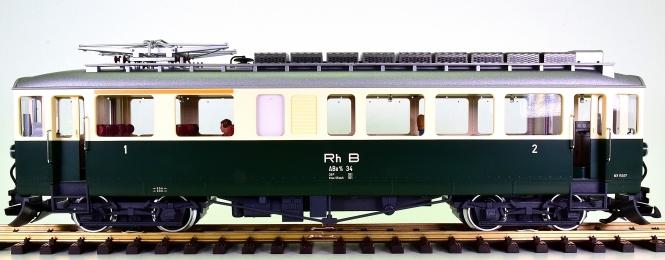 LGB 25390 (G/IIm) – Triebwagen Abe 4/4 34 der RhB, digital (DCC, mfx) + Sound