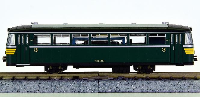 Fleischmann 740204 (N) – Schienenbus 551.669 der Museumsbahn AMFT
