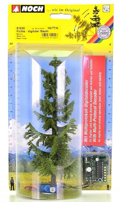 Noch 51020 – digitaler Baum, Fichte, 190 mm hoch – für H0, TT, N