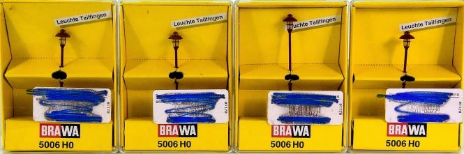 Brawa 5006 (H0) – 4x Leuchten -Tailfingen-, Höhe 44 mm