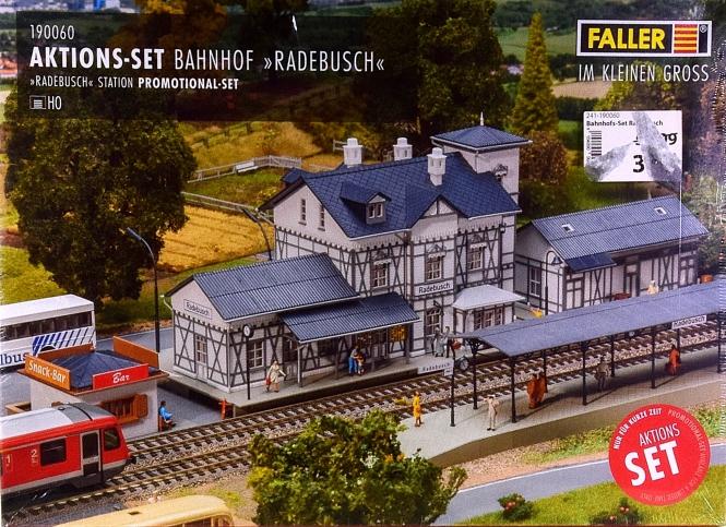 Faller 190060 – Bausatz Bahnhof-Set Radebusch