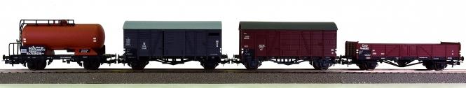 Liliput L240019 - 4-tlg. Güterwagen-Set Osteuropa