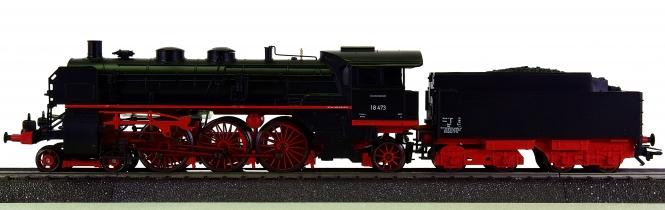 Märklin 29855 – Schlepptender-Dampflok BR 18 der DB, digital (MM) + Geräuschmodul
