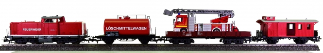Märklin 29750 - 4-teiliger Feuerwehrzug der DB, mit BR 212 (digital)
