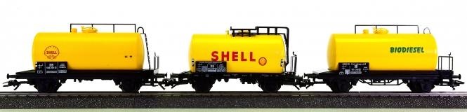 Märklin - 3-teiliges Kesselwagen-Set, aus Packung 29185, 29530 und 29854