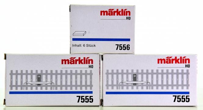 Märklin 7555 - 2 Schaltkontakte / Reed-Schalter, inklusive 6 Schaltmagnete