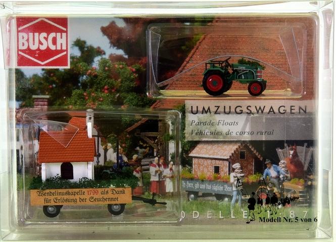 Busch 40062 - Traktor Kramer KL 11, Umzugswagen Nr. 5