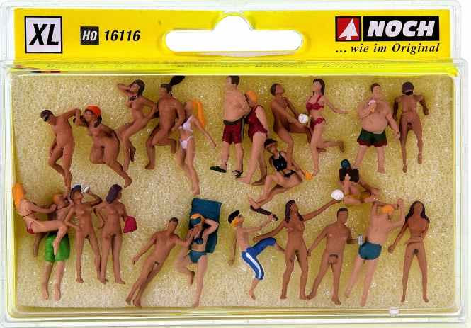 Noch 16116 - XL Set Badende, 24 Figuren