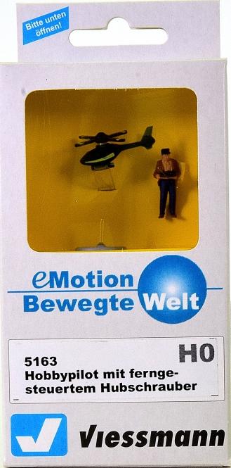 Viessmann 5163 – Funktionsmodell, Hobby-Pilot mit ferngesteuertem Hubschrauber