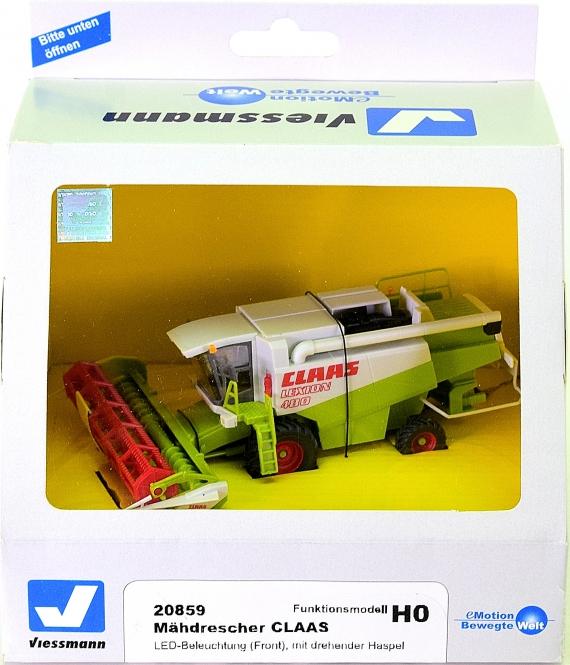 Viessmann 20859 – Funktionsmodell, Mähdrescher CLAAS mit Licht und dreh. Haspel