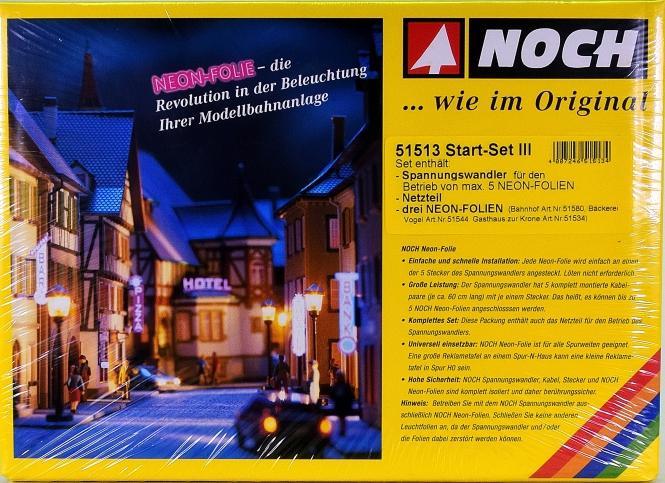 Noch 51513 – Start-Set Neon-Folie für Bahnhof, Bäckerei und Gasthaus