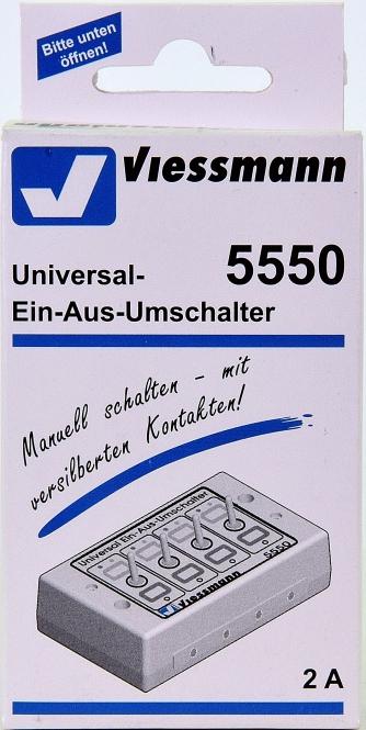 Viessmann 5550 – Universal-Ein-Aus-Umschalter, 4-fach