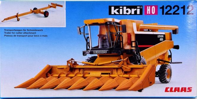 Kibri 12212 – Bausatz Maisernter Claas Lexion 480 mit Transportwagen
