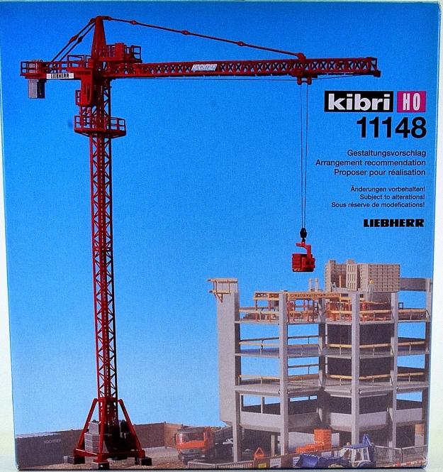 Kibri 11148 – Bausatz Liebherr Turmdrehkran 63 EC
