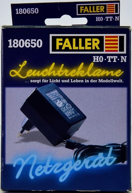 Faller 180650 - Stecker-Netzteil für Leuchtreklame, In 230V~, Out 5 V 240 mA