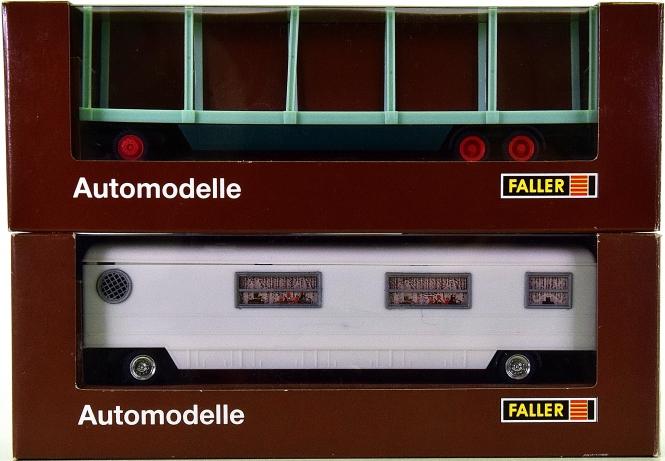 Faller 1031/1037 - 2 Kirmeswagen, Wohnwagen und Material-Transporter