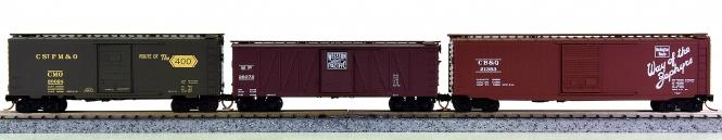 Micro-Trains-Line 20596/28170/31320 (N) - 3-teiliges US-Güterwagen-Set