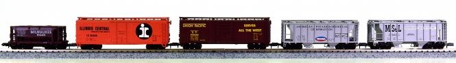 Atlas (N) - 5-tlg. Güterwagen-Set amerikanischer Bahngesellschaften