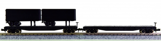 Atlas 3740/3800 (N) - 2 US-Flat-Cars, undecorated