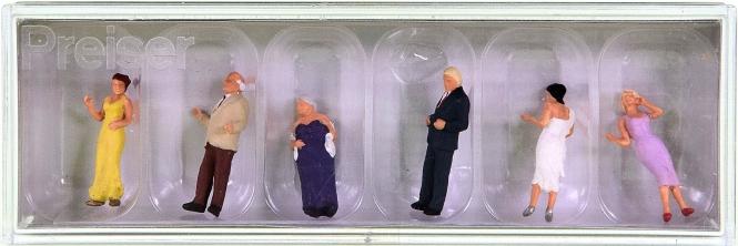 Preiser 10436 – Gäste festlich gekleidet, 6 Figuren