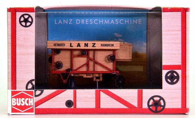 Busch 59902 (H0) - Dreschmaschine / Dreschkasten -Lanz-