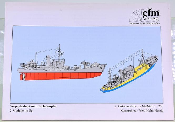 CFM Verlag (1:250) – Vorpostenboot und Fischdampfer, 2 Modelle im Set