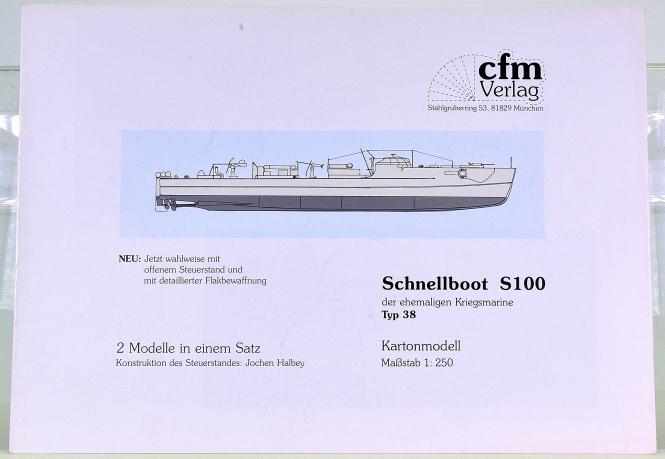 CFM Verlag (1:250) – Schnellboot-Set S100 Typ 38 (der ehemaligen Kriegsmarine)