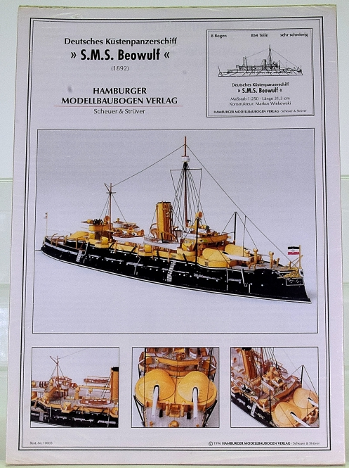HMV 3024 (1:250) – Deutsches Küstenpanzerschiff SMS Beowulf (1892)