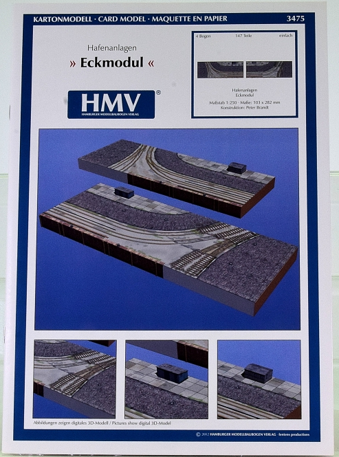 HMV 3475 (1:250) – Hafenanlagen Eckmodul + Lasercutsatz