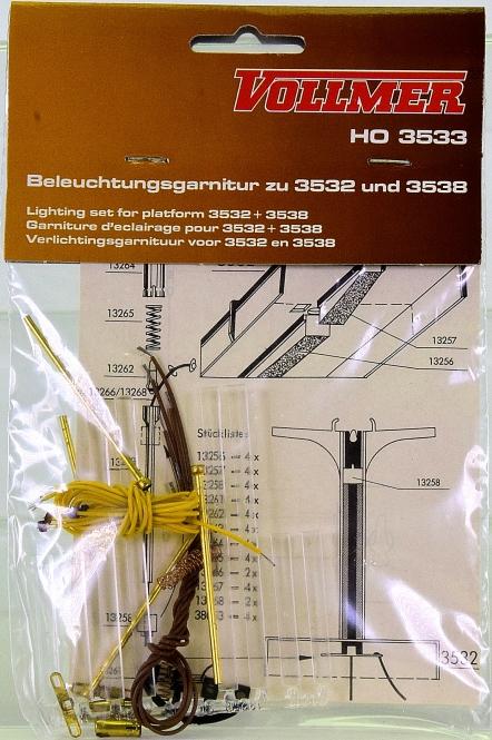 Vollmer 3533 (H0) - Beleuchtungsgarnitur für die Bahnsteige 3532 und 3538