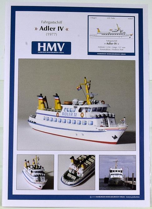HMV 3314 (1:250) – Fahrgastschff Adler IV (1977) + Lasercutsatz