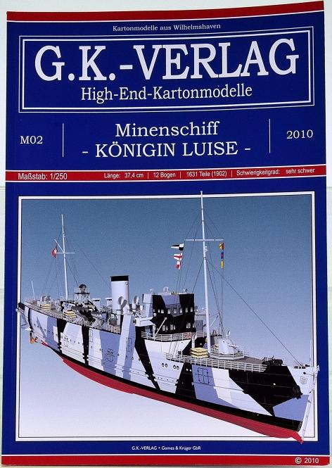 G.K. Verlag M2 (1:250) – Minenschiff Königin Luise (1941) + Lasercut