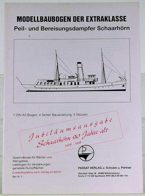 Passat Verlag Nr. 2 (1:250) – Peil- und Bereisungsdampfer Schaarhörn