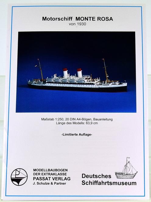 Passat Verlag Nr. 7 (1:250) – Motorschiff Monte Rosa (von 1930)