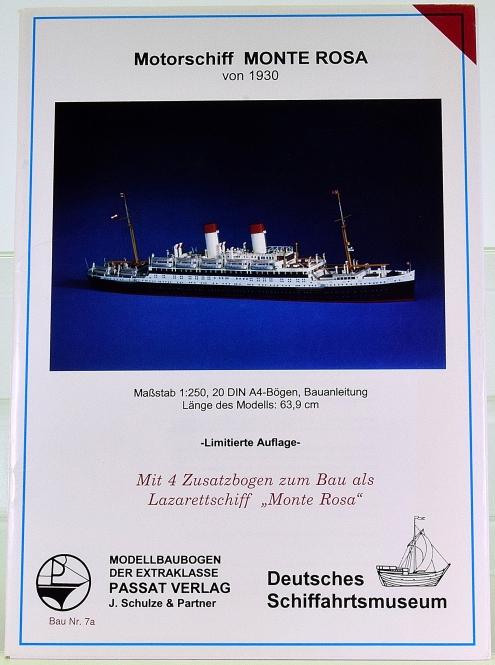 Passat Verlag Nr. 7 (1:250) – Motorschiff Monte Rosa (von 1930) + Zusatzbogen