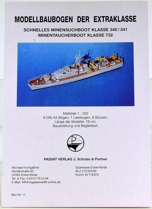Passat Verlag Nr. 11 (1:250) – Schnelle Minensuchboote der Schütze-Klasse