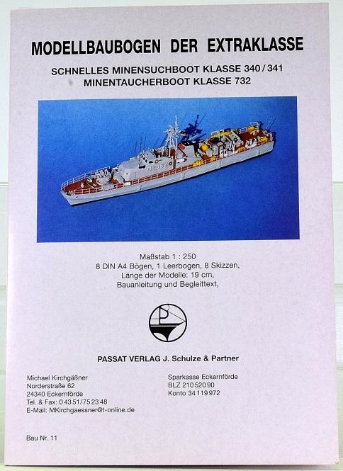 Passat Verlag Nr. 11 (1:250) – Schnelle Minensuchboote Schütze-Kl. + Ätzteile
