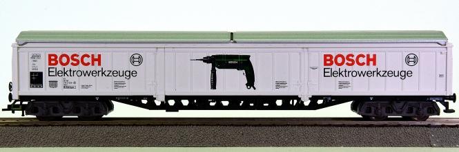 Fleischmann 5385 K (H0) – Großraum-Güterwagen der Bosch GmbH, eing. bei der DB