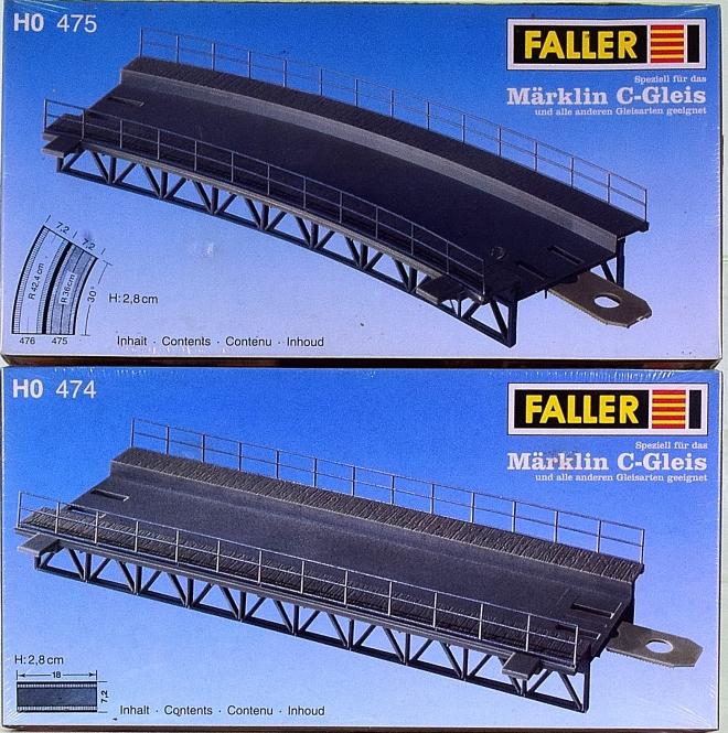 Faller (120)474, (129)475 - Bausatz Gleisbett gerade und Gleisbett gebogen
