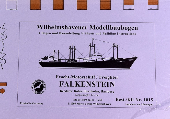 WHV Modellbaubogen 1015 (1:250) – Motorfrachtschiff FALKENSTEIN