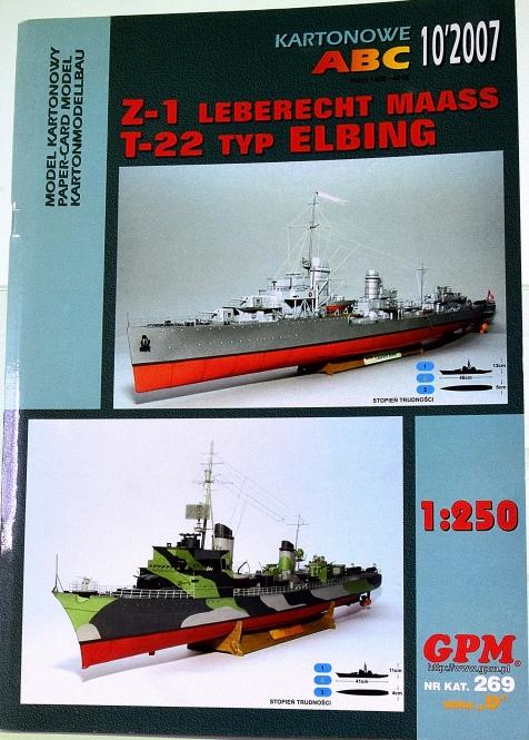 GPM Modellbaubogen 269 (1:250) – Zerstörer T-1 und Flottentorpedoboot T-22