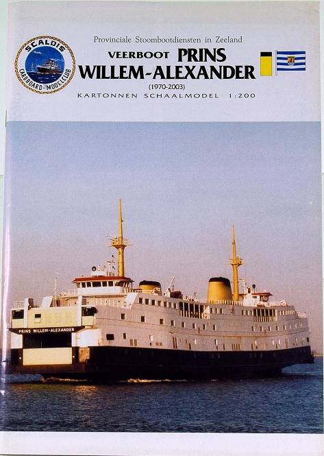 Scaldis Cardboard-Modelclub (1:200) – Fährschiff Prins Willem-Alexander