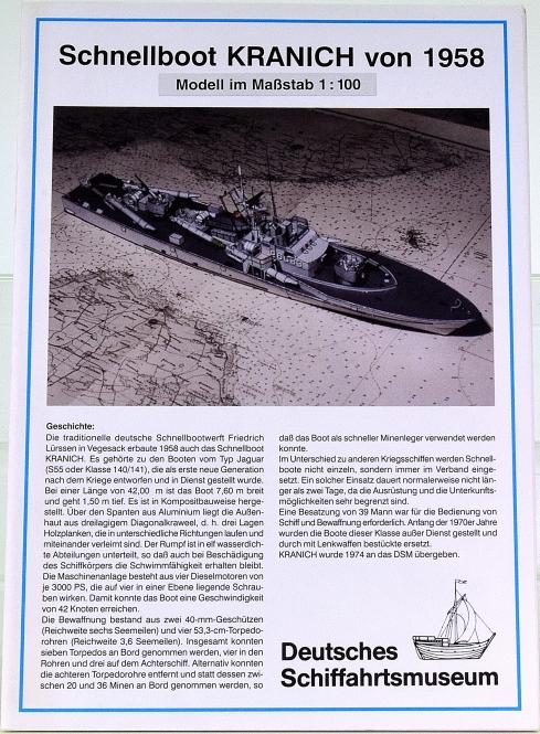 DSM Bremerhaven (1:100) – Schnellboot KRANICH von 1958