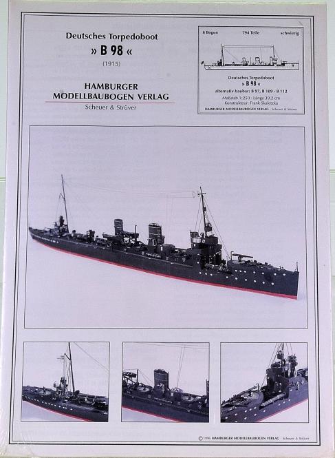 HMV 3026 (1:250) – Deutsches Torpedoboot B 98 (1915)
