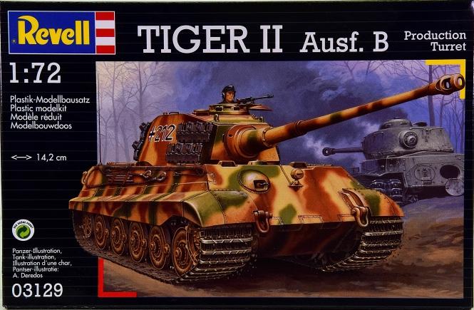 Revell 03129 (1:72) - Bausatz Kampfpanzer Tiger II Ausf. B, Henschel-Turm