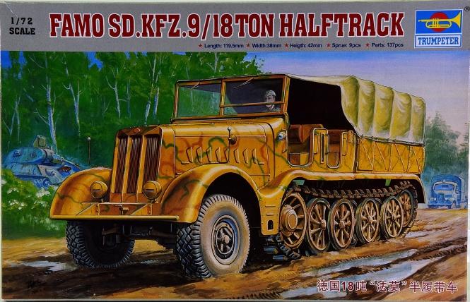 Trumpeter 07203 (1:72) - Bausatz Sd.Kfz. 9 18t Halbkettenfahrzeug