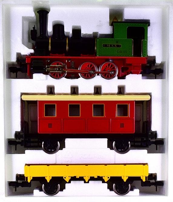 Märklin Maxi 5440 (Spur 1) – Pers./Güterzug mit Dampflok Max, digital (Delta)