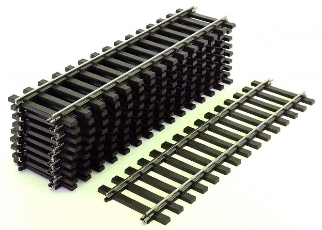 Märklin 5903 (Spur 1) – 10 x gerades Gleis, Länge je Gleis 300 mm